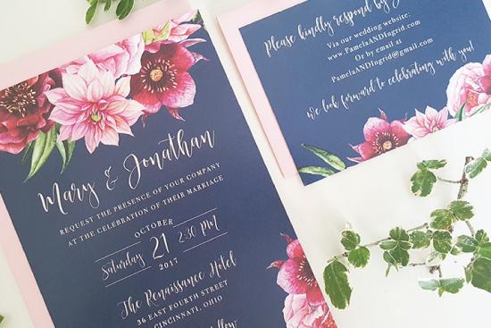 navy-pink-wedding-invitation