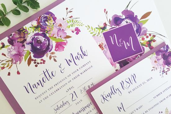 purple-floral-wedding-invitation