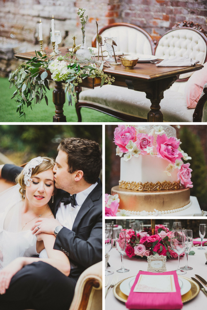 pink-gold-wedding-vintage-glam
