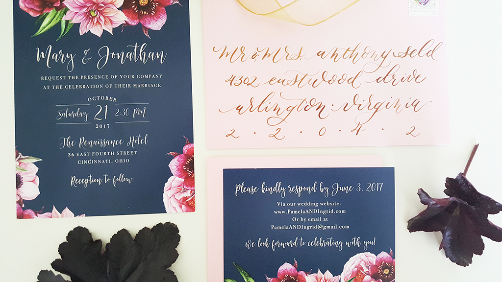 navy-wedding-invitation-etiquette-calligraphy