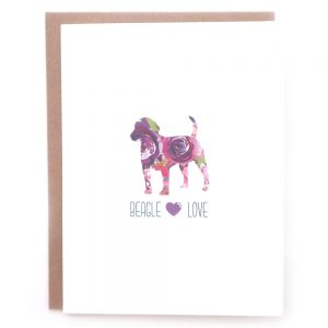 beagle dog greeting card