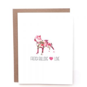 french bulldog dog greeting card