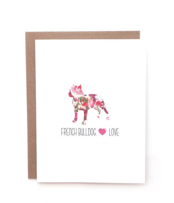 french bulldog dog greeting card