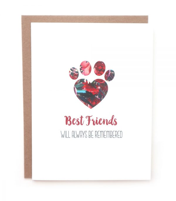 best friends sympathy greeting card