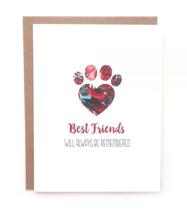best friends sympathy greeting card