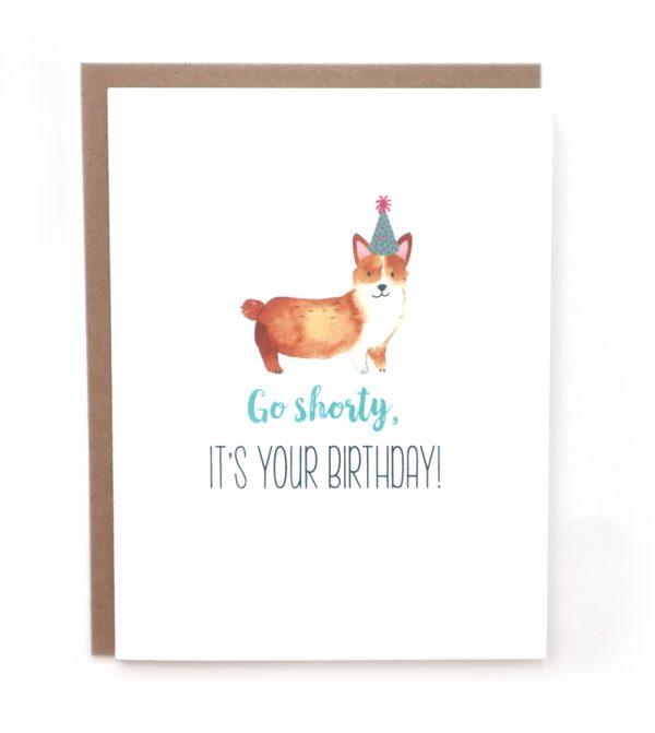 corgi birthday greeting card