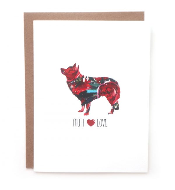 mutt dog greeting card