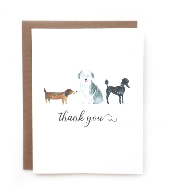 thank you dog greeting card