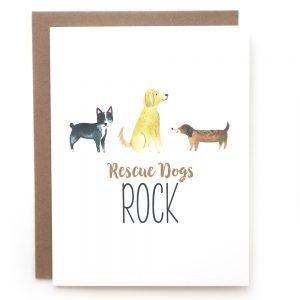 rescue dogs rock greeting card