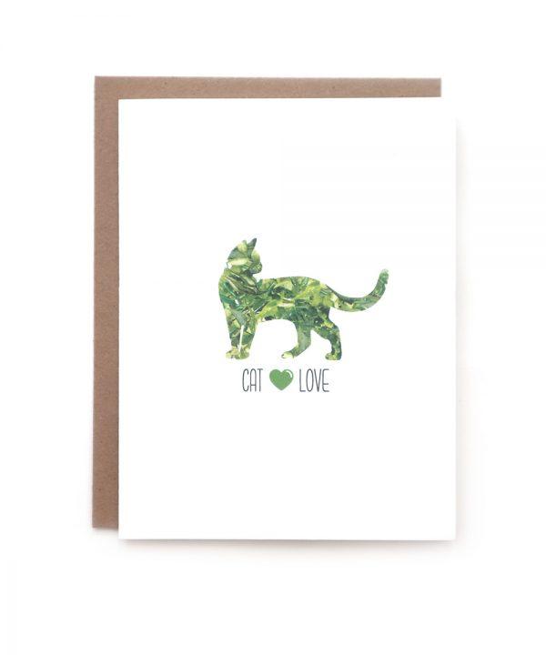 cat love greeting card