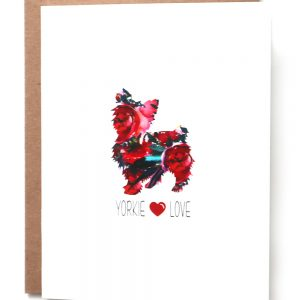 yorkie dog greeting card