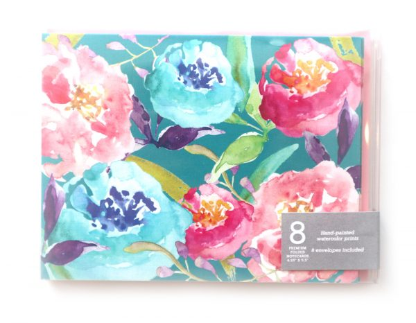 floral boxed note cards