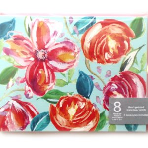 boxed floral note cards