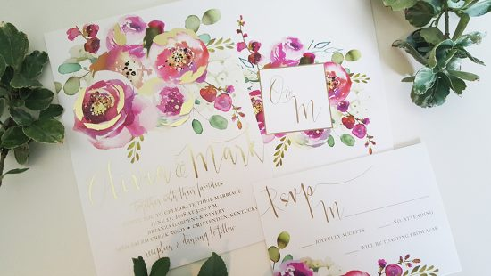 pink-foil-wedding-invitation